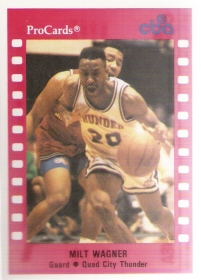 1990-91 ProCards CBA #135 Milt Wagner