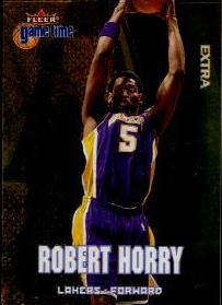 2000-01 Fleer Game Time Extra #71 Robert Horry