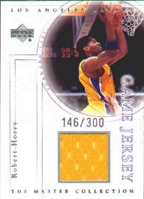 2000 Upper Deck Lakers Master Collection Game Jerseys #RHJ Robert Horry #ed to 300