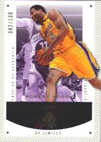 2002-03 SP Authentic Limited #39 Robert Horry #ed to 100