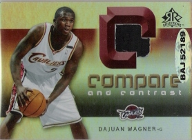 2005-06 Reflections Compare and Contrast Jerseys #WI D.Wagner/Z.Ilgauskas #ed to 100