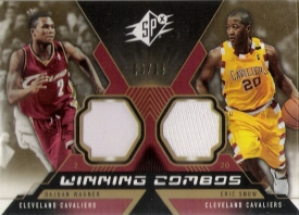 2005-06 SPx Winning Materials Combos Spectrum #WS D.Wagner/E.Snow #ed to 25