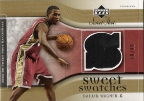 2005-06 Sweet Shot Sweet Swatches Gold #DA Dajuan Wagner #ed to 99