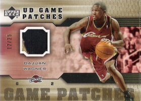 2005-06 Upper Deck Game Jerseys Patches #DW Dajuan Wagner #ed to 25