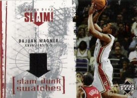 2005-06 Upper Deck Slam Dunk Swatches #DW Dajuan Wagner